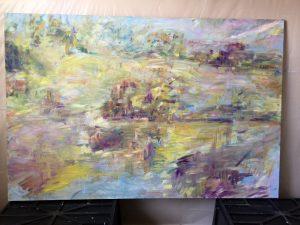 Chem Trails - painting by Kathy Mason Kerner